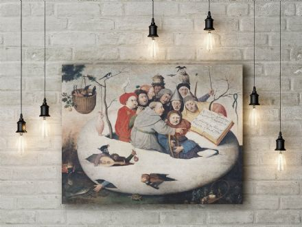Bosch: The Concert in the Egg. Fantasy Fine Art Canvas.